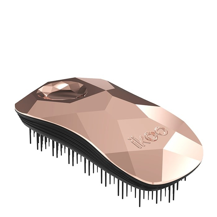 Четка за разресване Ikoo Brush Metallic Collection Black - Gold Digger
