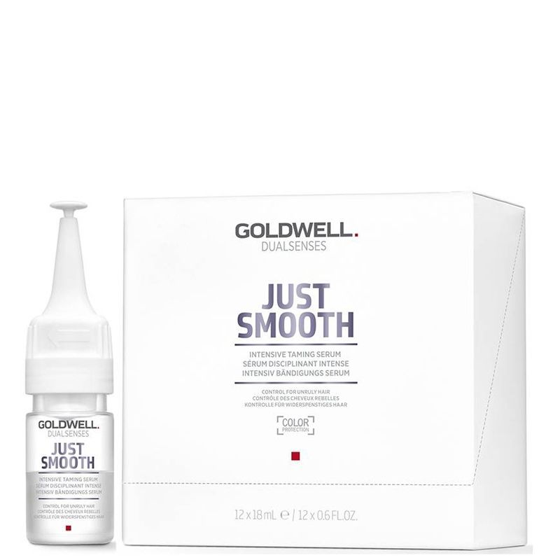 Ампули за непокорна коса Goldwell Just Smooth Intensive Taming Serum 12 бр х 18 мл